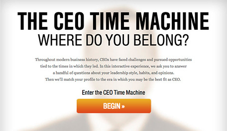 The Ceo Time Machine: Where Do You Belong?