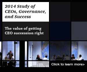 THE 2014 STUDY OF CEOS, GOVERNANCE, AND SUCCESS This is the 15th year that Strategy& has examined CEO successions and success among the world's top 2,500 public companies. This year we've assessed how much progress companies have made toward better CEO succession planning and how much value some companies are leaving on the table with poor planning.