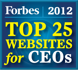 Forbes Top 25 Websites for CEOs