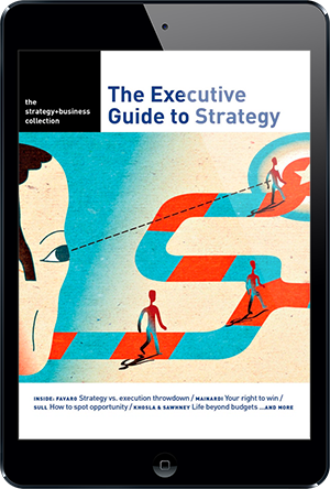 "Sign up now and receive a FREE Strategy eBook ""The Executive Guide to Strategy"""